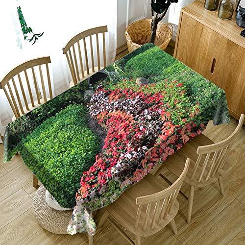 DHLZ Gartenordnung in der Ecke des Parkanstrich-Tischdeckenmultifunktionsdigitaldrucks 3D tapisserietuch 140 * 260cm flower3