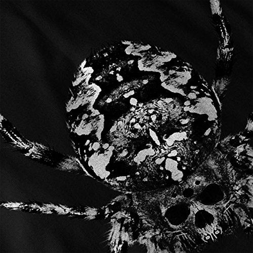 Spinne Schädel Gesicht Tod Kriechen Damen S-2XL Muskelshirt | Wellcoda Schwarz