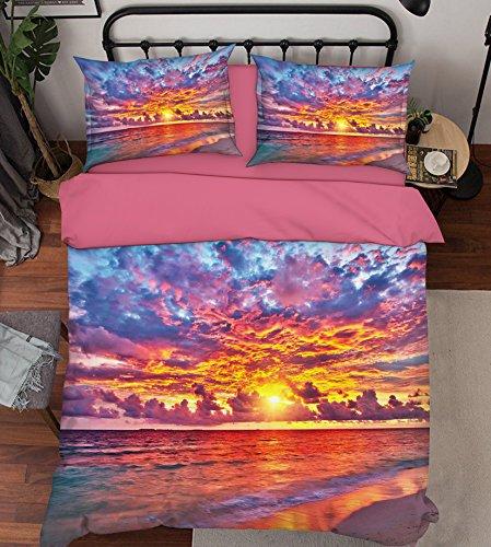 3D Wolken Sonnenuntergang Das Meer 677 Bettzeug Kissenbezüge steppen Bettdecke Decken Set Single Königin König  3D Foto Bettzeug, AJ WALLPAPER Kyra (Single)
