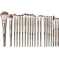 Pinceaux de maquillage 20 PCS Premium Champagne or pinceau de maquillage ensemble professionnel synthétique maquillage pinceau ensemble pour le fond de teint poudre Blush yeux cosmétiques