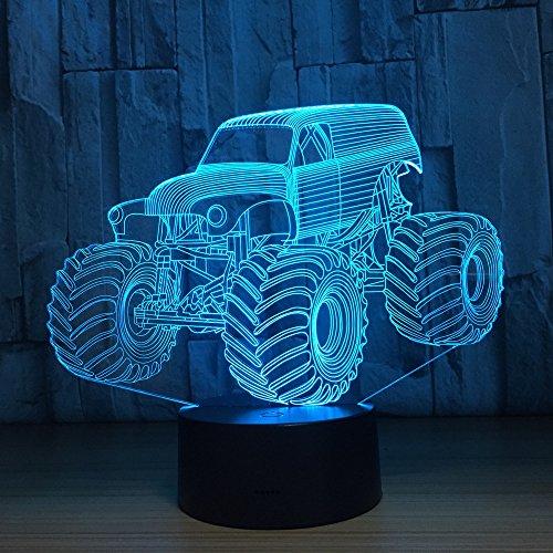 Mxlyr 3D Nachtlicht 2019 Mode Lkw Auto Led Lichter Led Sensor Tischlampe Led Usb Lampe Als Home Art Dekorationen Neujahr Jungen Geschenk - Jungen Wie Lkw-lampe
