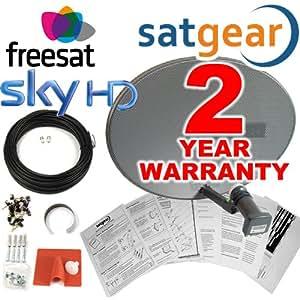 Satgear Sky/Freesat MK4 Zone 1 Dish Kit with Quad LNB and 20m Cable