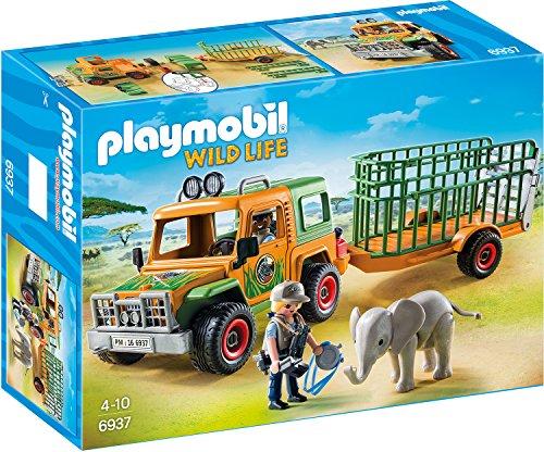 Preisvergleich Produktbild PLAYMOBIL 6937 - Rangergeländewagen mit Anhänger
