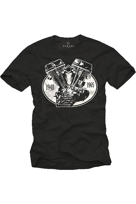 MAKAYA V8 Engine - Camiseta Negra Hombre S: Amazon.es: Ropa y accesorios