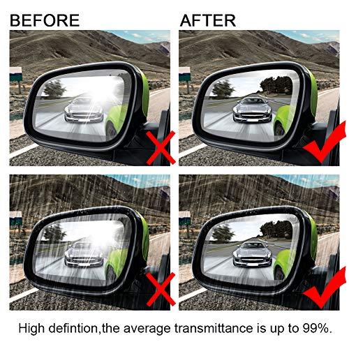 100x150mm Adesivo Antipioggia per specchietto retrovisore per Auto Pellicola Protettiva Anti-Appannamento Schermo Antipioggia Outbit Adesivo per specchietto retrovisore