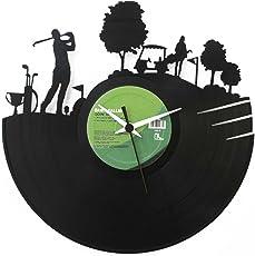 Orologio Golf idea regalo in vinile, colore nero Vinyluse originale
