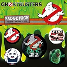 5-tlg Ghostbusters 3 Button Set Who You Gonna Call?, aus Blech bedruckt