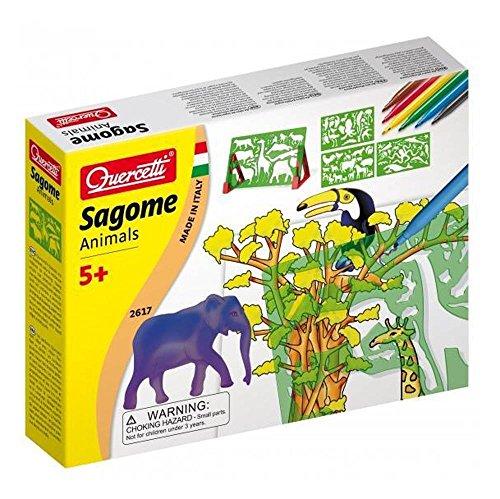 Imagen principal de Quercetti 13/2617 - Plantillas de dibujo, diseño de animales