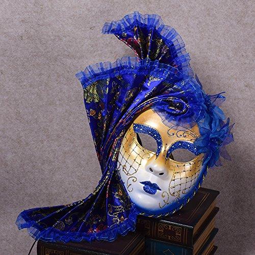 K&C Cosplay Maske Venedig Maskerade Maske Halloween Kostüm Blau (Vampire Die Maskerade Kostüme)