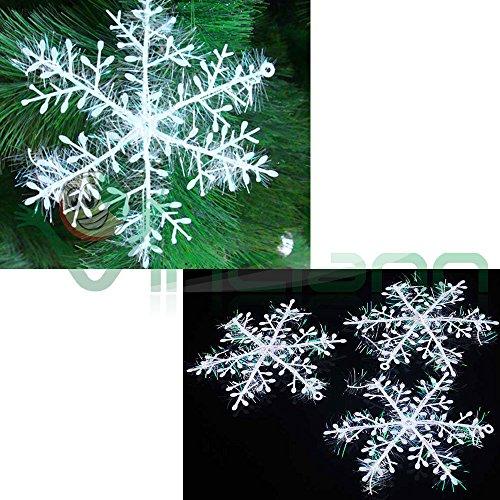 Set 3Schneeflocken Schnee Deko Weihnachten Deko Dekoration Baum Weihnachten Schneeflocke Weihnachtsschmuck (Weihnachten Dekorationen Baum)