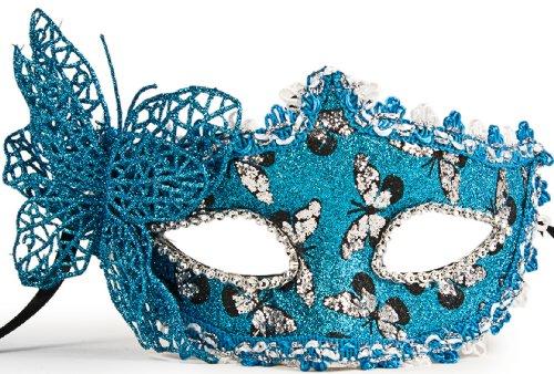 Fantastische Venezianische Schmetterlings Maske! Verschiedene Modelle!: Farbe: M2 blau (Venezianische Maske Schmetterling)