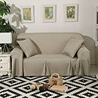 DSAQAO Protector de sofá de color puro todo incluido, 1 2 3 4 plazas Universal de cuatro estaciones Sofá slipcover, Antideslizante Funda para sofá-B 210x260cm(83x102inch)