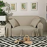 DSAQAO Protector de sofá de Color Puro Todo Incluido, 1 2 3 4 plazas Universal de Cuatro Estaciones Sofá slipcover, Antideslizante Funda para sofá-B 210x350cm(83x138inch)