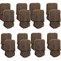 Mogoko 16 x Stuhlbeinsocke Möbel Socken Anti-Rutsch Wollsocken Hocker Fessel Tabellen Cotton Caps Fußboden Schutz Stuhl Bein Floor Protector (Kaffe)