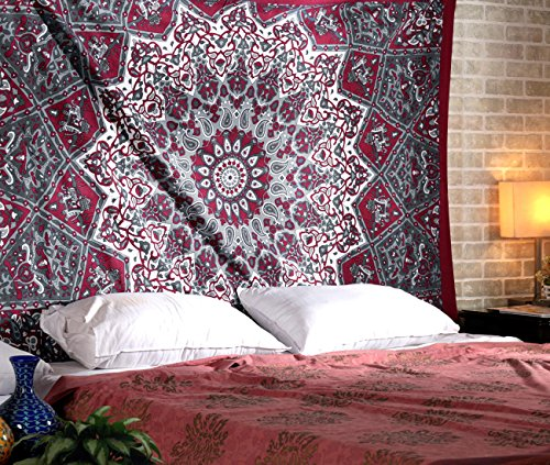 RAJRANG BRINGING RAJASTHAN TO YOU Tapices de Mandala Pared - Bohemio H