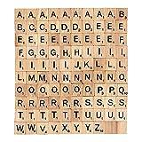 LUFA 100 pcs Holz-Alphabet Scrabblefliesen Schwarzen Buchstaben Und Zahlen Fur Das Kunsthandwerk Holz Holz Schnitzerei ersetzen Briefe