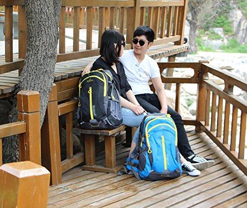 HWLXBB Outdoor Bergsteigen Tasche Männlich und Weiblich 60L Wasserdichte Mehrzweck-Bergsteigen Tasche Wandern Camping Bergsteigen Rucksack 3*