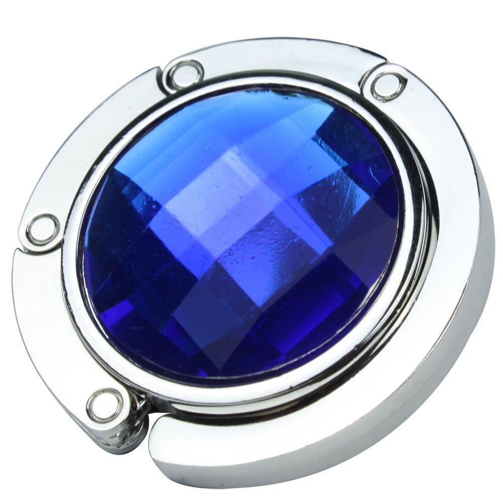 Gancio gancio Borsa Pieghevole Borsa A Mano Moda cristallo colori a scelta blu zaffiro