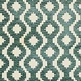 McAlister Textiles - Aztec Kollektion | Stoff im geometrischen Arizona-Muster in Enteneiblau 140cm Breite | per halber Meter | Textil Material für Ethno-Look