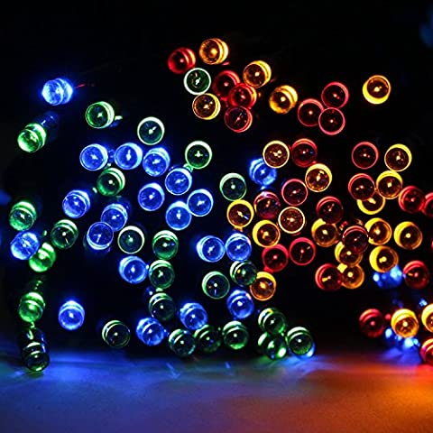 Expower Rechargeable Led String Light, 2pcs 100Leds Waterproof Solar String