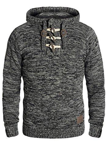 SOLID Pryce Herren Kapuzenpullover Strickhoodie aus 100% Baumwolle , Größe:M, Farbe:Black (9000)