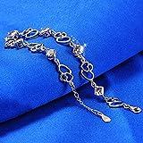Contever® Charm & Bead ELEMENTS Kristall Armbänder 925 Silber Armreif für Damen (Silber) - 5