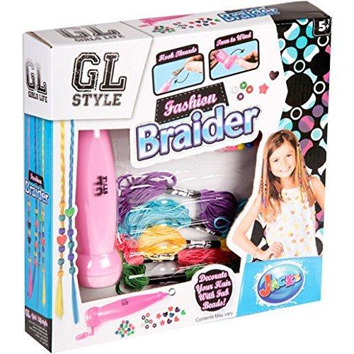Grafix Las nuevas muchachas forman el sistema del trenzador del grano del pelo adornan su pelo con las bolas fabulosas estilo de GL