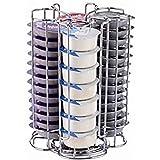 EXZACT Kaffekapselhållare, kompatibel med Tassimo kapslar (52 st) — roterande Pod Tower Rack (Tassimo 52 st)