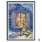 5D Weihnachten Diamond Painting Malloom, Weihnachtsdiamantrhinestone klebte Stickerei Malerei Kreuzstich Hauptdekor
