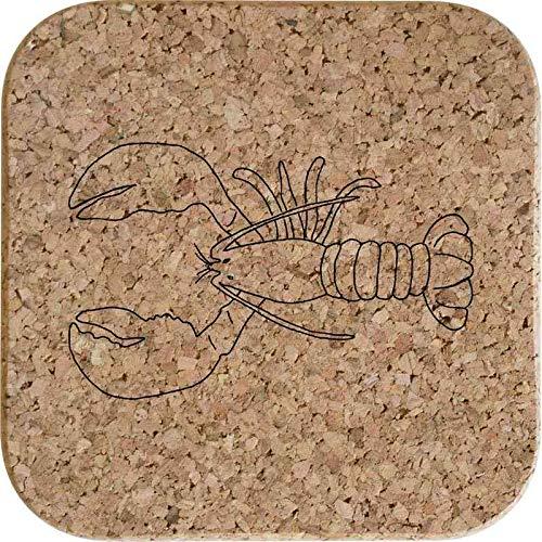 Azeeda 4 x 'Hummer Meer Kreatur' 10cm Quadratische Korkuntersetzer (CR00151829) (Meer Kreatur Spielzeug)