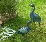 Gartenvogel Deko-Vogel 2er Set Pfau Caruso aus Metall, 79x36x19 cm & 57x68x24 cm