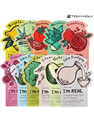 Tonymoly I'm Real Skin Care Facial Mask Sheet Package (ALL - 11 Sheets) by TONYMOLY