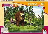 Schmidt Spiele Puzzle 56140 - Mascha und der Bär, Beim Angeln, 60 Teile