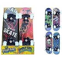 """Childrens Beginner Skater 16.5"""" Double Kick Mini Outdoor Street Skateboard"""