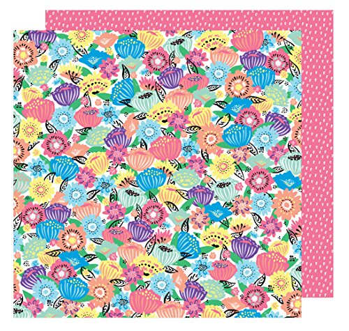 AMY Tan 30,5x 30,5cm Papier Flower Power (25Pack), 12-x-12-inch
