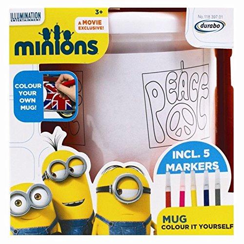 Invero® Kinder Minions Becher Schale Farbe Ihre eigene Kunststofftasse Cups für Weihnachten oder Geschenk