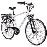 "CHRISSON 28"" Zoll CITYRAD ALU Fahrrad E-Bike PEDELEC E-Gent mit 7G Shimano Weiss 53cm- 71,1 cm (28 Zoll)"