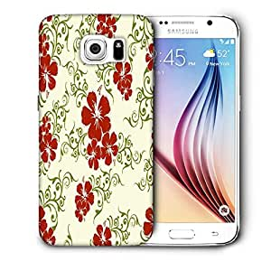 Snoogg Orange and Blue Rangolies Printed Protective Phone Back Case Cover for Samsung Galaxy S6/S IIIIII