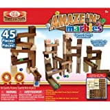 POOF-Slinky 4745BL Ideal Amaze 'N' Marbles Classic Wood Construction Set, 45-Pieces by Ideal TOY (English Manual)