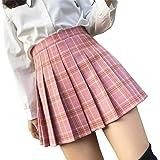 Mcaishen Falda De Verano Cintura Alta Falda De Una Línea Falda Plisada Coreana del Coreano del Viento De La Universidad Corea