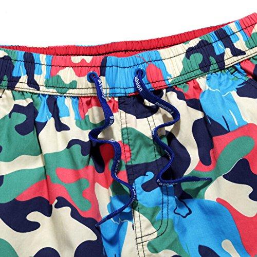 Honeystore Sommer Camouflage Schnell Trocken Männer Strand Hosen Casual Loose Boardshorts Mehrfarbig-01