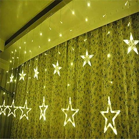 LED Pentacle Vorhang Licht 2.5 * 1.7m138LED Star Dekorative Licht LED Eis Bar Licht Licht Weihnachten Tag Laterne , Warm White