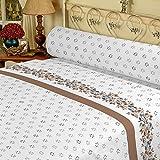 DAGOSTINO HOME Juego de Sabanas para cama de 135, Diseño Arlequin Beige, Composicion, 50%...