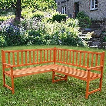 Wooden Corner Bench Seat Outdoor Garden Furniture Seater ...