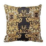 Edler Gold Barock Kunstvoller wirbelt Muster Kissen