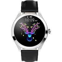 ZDY Smart Watch KW10, Touch Screen Rotondo IP68 Impermeabile Smartwatch per Il Periodo delle Donne, Tracker Fitness con…