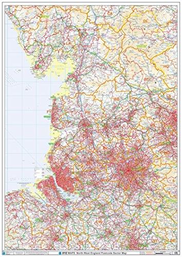 XYZ Postleitzahl Sector Karte–12–North West England: Papier Wand Karte (Postleitzahl Sector Karten) (Xtreme Wand)