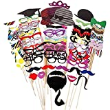 Starcrafter 76 Tlg. Hochzeits Partei Funny Trimm-Styling Mustache Lippen Brille Hüten Krawatte Kreative Photo Booth Requisiten Dekoration