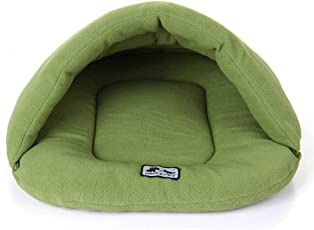 Fansport Cat Sleeping Bag Warm Fleece Slipper Shaped Dog Sleeping Cave Pet Cave Pet Sleeping Bag for Puppy