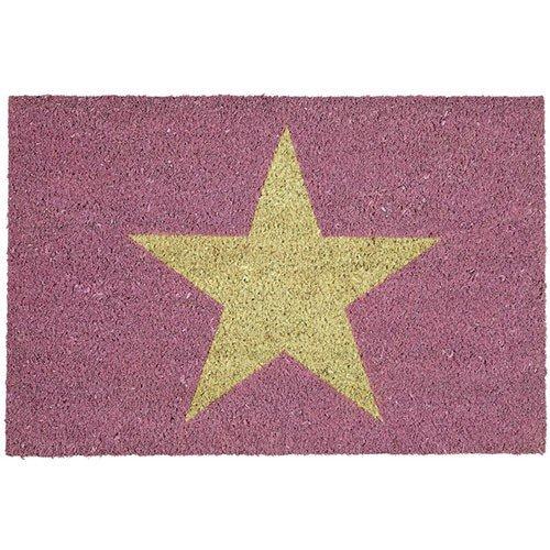 Gift Company - Fußmatte, Kokosmatte, Türmatte - Pink Star, Stern, Sterne - 75 x 45 cm - Kokosfasern